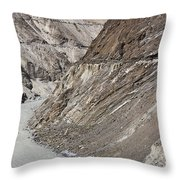 The Hunza River In Pakistan Throw Pillow