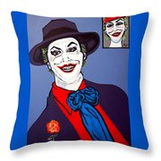 The Joker And Mom Throw Pillow