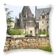 The Kitchenbuilding Of Abbey Fontevraud Throw Pillow