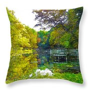 The Lake... Throw Pillow
