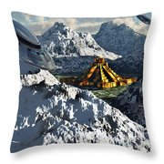 The Legendary South American Golden Throw Pillow by Mark Stevenson