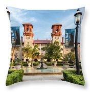 The Lightner Museum Formerly The Hotel Alcazar St. Augustine Florida Throw Pillow