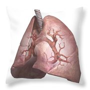 The Lungs Throw Pillow