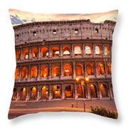 The Majestic Coliseum - Rome - Italy Throw Pillow