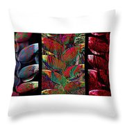 The Many Faces Of Heliconia  Throw Pillow