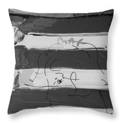 The Max Face In Black And White Throw Pillow