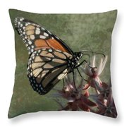 The Monarch Painterly Throw Pillow