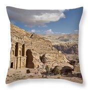 The Monastery El Deir Or Al Deir Throw Pillow