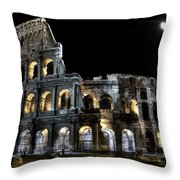 The Moon Above The Colosseum No2 Throw Pillow