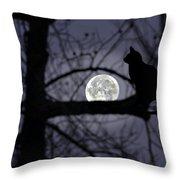 The Moon Watcher Throw Pillow