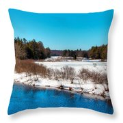 The Moose River - Old Forge New York Throw Pillow