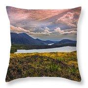 The Mourne Mountains Throw Pillow