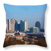 The Nashville Skyline As Viewed Throw Pillow