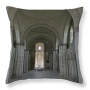The Nave - Cloister Fontevraud Throw Pillow