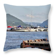 The Newburgh Water Front Throw Pillow