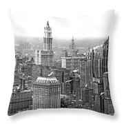 The Ny Financial District Throw Pillow
