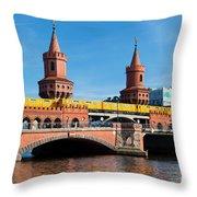 The Oberbaum Bridge In Berlin Germany Throw Pillow