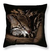 The Ocelot Throw Pillow