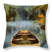 The Old Boat Throw Pillow