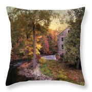 The Old Stone Mill Throw Pillow