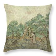 The Olive Orchard Throw Pillow