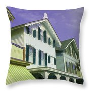 The Painted Ladies Of Cape May Throw Pillow