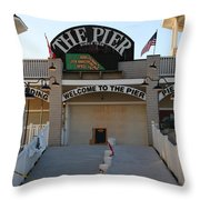 The Pier Throw Pillow by Michael Mooney