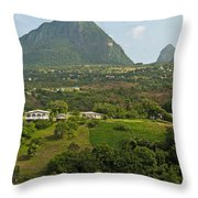 The Pitons In Saint Lucia Throw Pillow