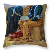 The Pottery Maker Throw Pillow