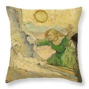 The Raising Of Lazarus Throw Pillow