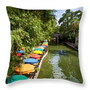 The River Walk Throw Pillow