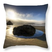 The Rock Throw Pillow by Debra and Dave Vanderlaan