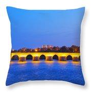The Roman Bridge In Cordoba Throw Pillow
