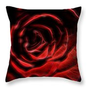 The Rose Digital Art Throw Pillow