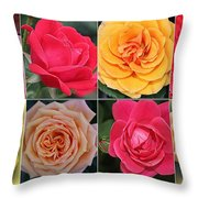 Spring Time Roses Throw Pillow