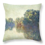 The Seine At Giverny Throw Pillow
