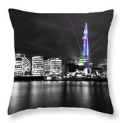 The Shard Lasers Throw Pillow