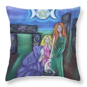 The Silvery Moon Throw Pillow