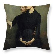 The Sisters Throw Pillow