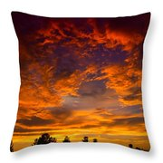 The Sky Is On Fire  Throw Pillow