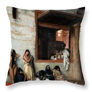 The Slave Market Throw Pillow