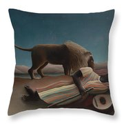 The Sleeping Gypsy Throw Pillow