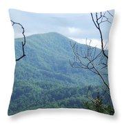 The Smokey Mtn. Throw Pillow