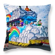 The Spirit Of Mardi Gras Throw Pillow by Steve Harrington