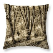 The Spring Forest Throw Pillow