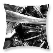 The Stearman Jacobs Aircraft Engine Throw Pillow