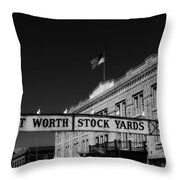The Stock Yards Of Fort Worth Throw Pillow