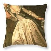 The Stolen Kiss Throw Pillow