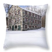 The Stone Mill At The Enfield Shaker Museum Throw Pillow