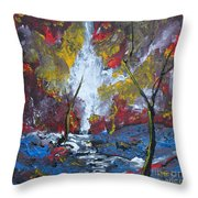 The Stream Of Light Throw Pillow